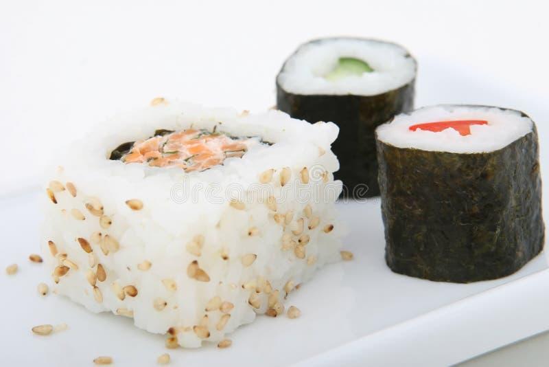Fruits de mer japonais de sushi image stock