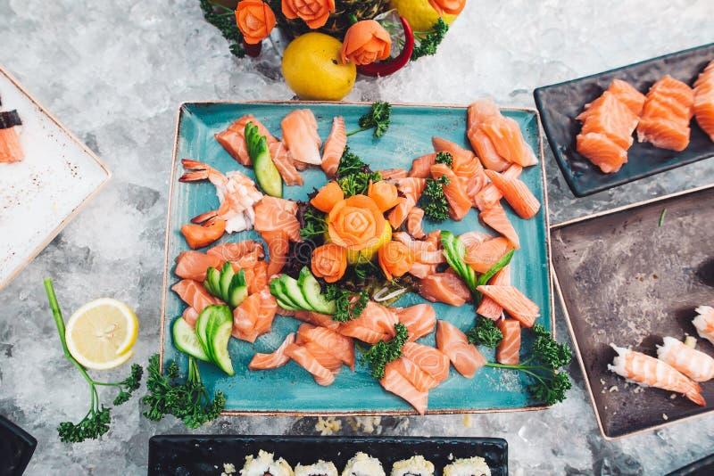 Fruits de mer japonais Glace images libres de droits