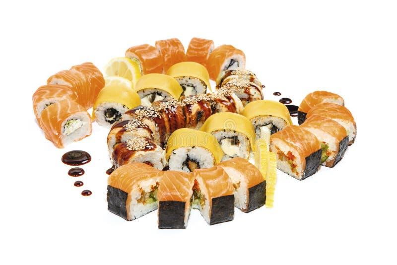 Fruits de mer réglés - petits pains d'isolement images stock