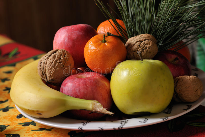 Fruits in dish royalty free stock image