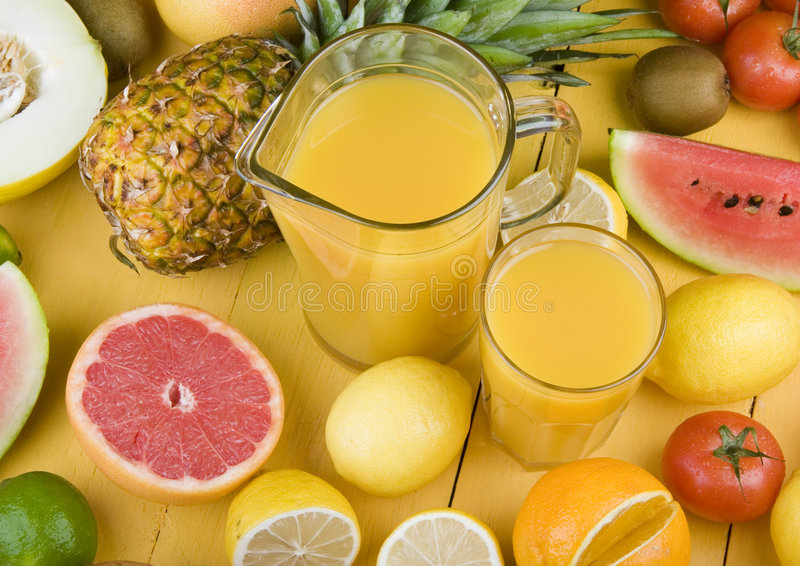 Fruits drink royalty free stock photo