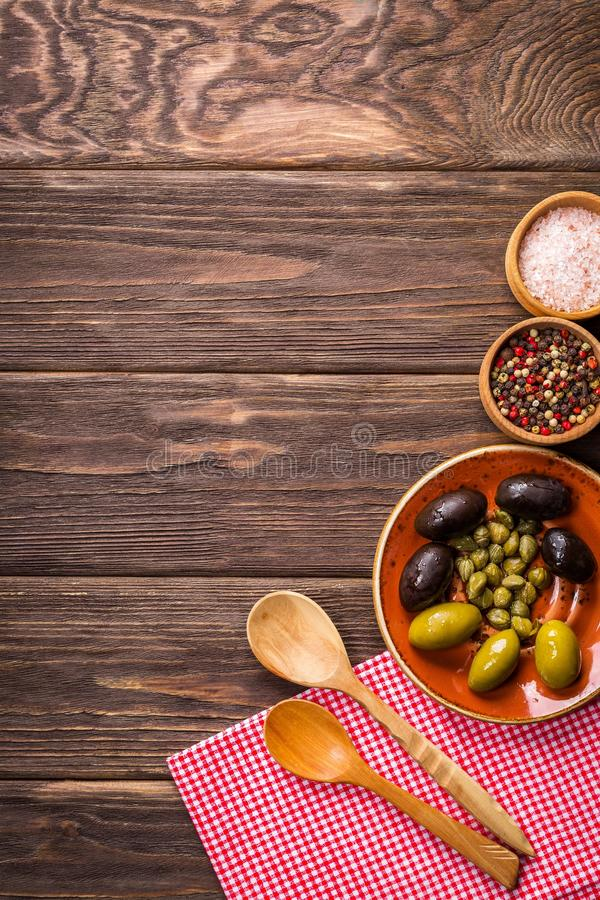 Fruits Eating Food on Wood royalty free stock photos