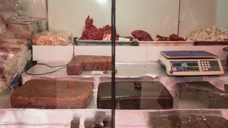 Fruits et écrous secs à vendre au marché authentique, ` maximal s Sri Lanka d'Adam, le 15 janvier image stock