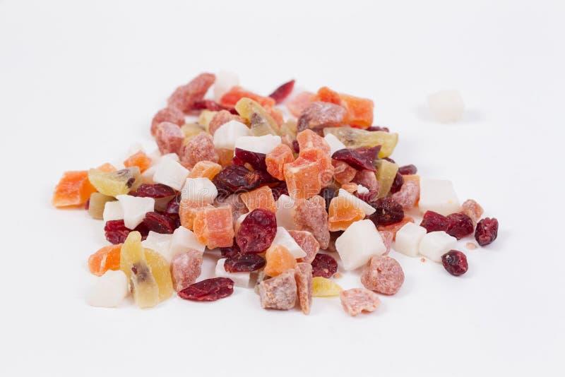 Fruits et écrous secs image stock