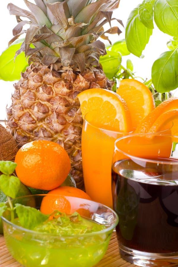 Fruits et boissons photographie stock libre de droits