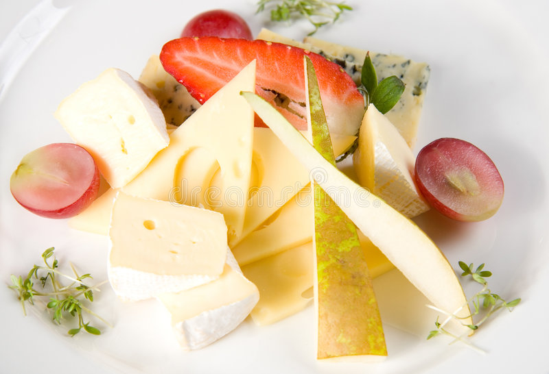 Fruits et fromage image stock