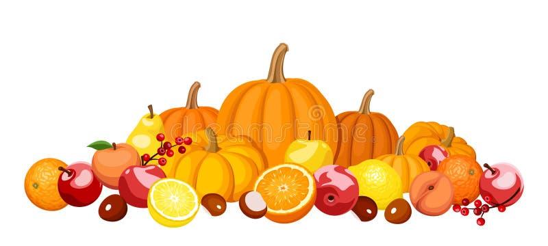 Favorit Fruits Et Légumes D'automne. Illustration de Vecteur - Image: 34517719 DZ66