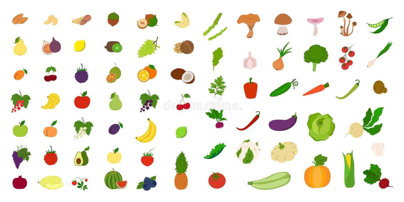 Fruits et légumes illustration stock