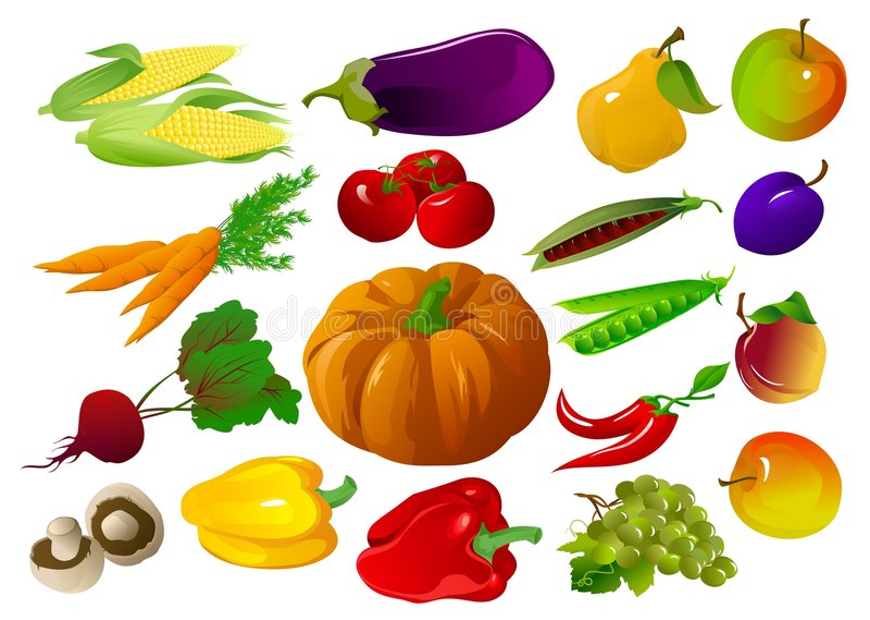 Fruits et légumes illustration de vecteur