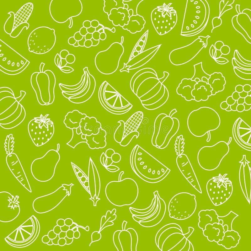 Fruits et légumes illustration libre de droits