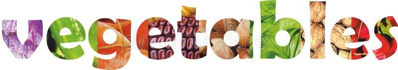 Fruits et légumes de couleur Nourriture fraîche Concept collage photos stock
