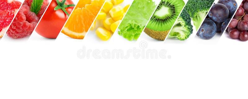 Fruits et légumes frais de couleur photographie stock