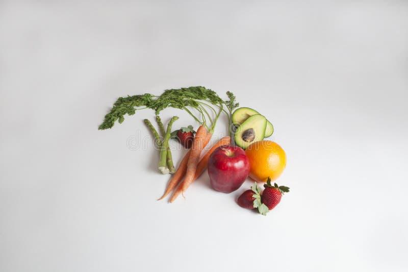 Fruits et légumes organiques frais images libres de droits