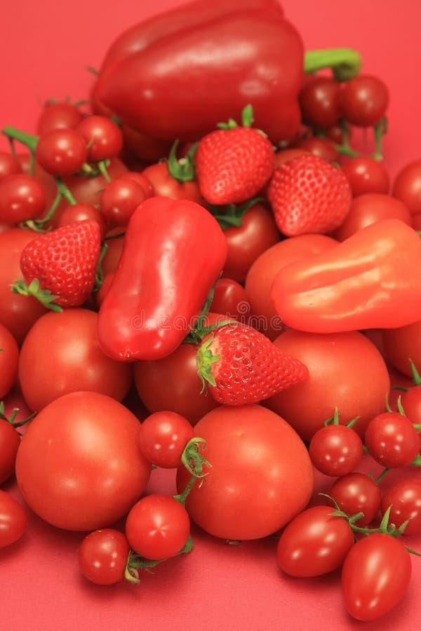 Fruits et légumes rouges images stock