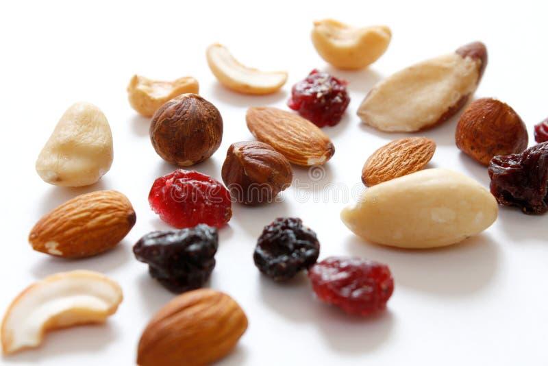 Fruits et noix photographie stock libre de droits