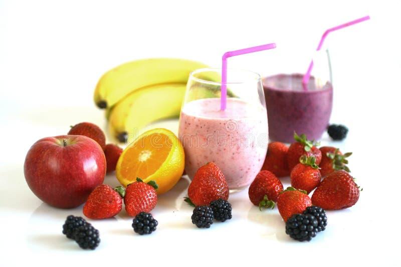 Fruits et smoothies image libre de droits