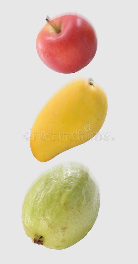 The fruits falling royalty free stock photos