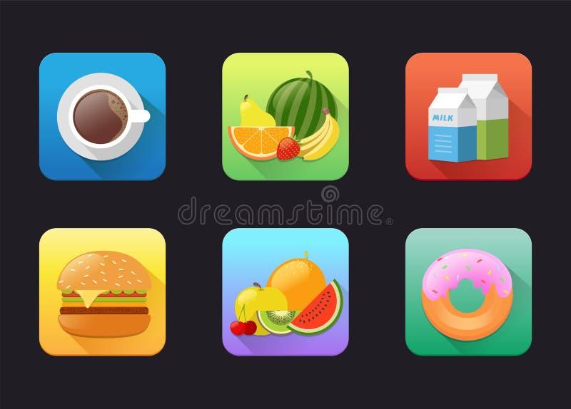 Fruits Flat Icon vector illustration