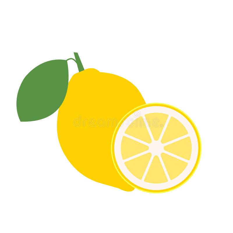 Fruits frais de citron, collection d'illustrations de vecteur - vecteur illustration libre de droits