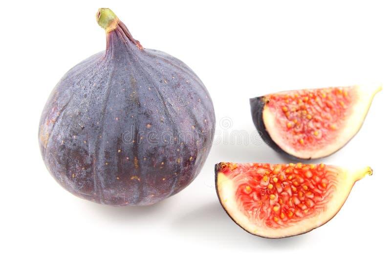Fruits frais de figue d'isolement sur un fond blanc photos stock