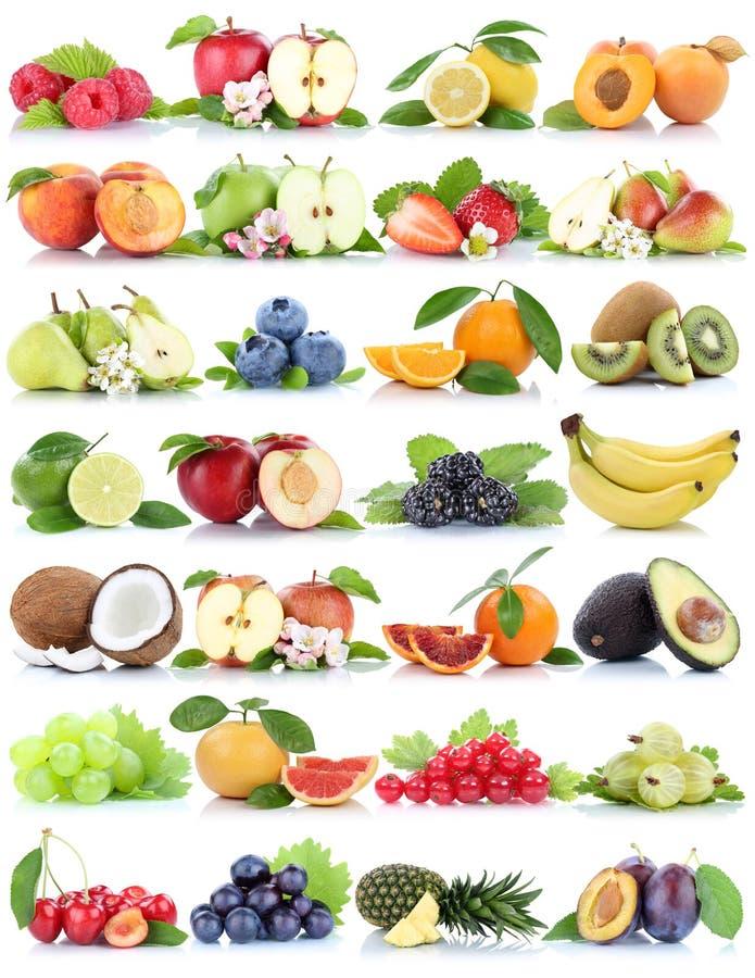 Fruits fruit collection orange apple apples banana strawberry pi stock image