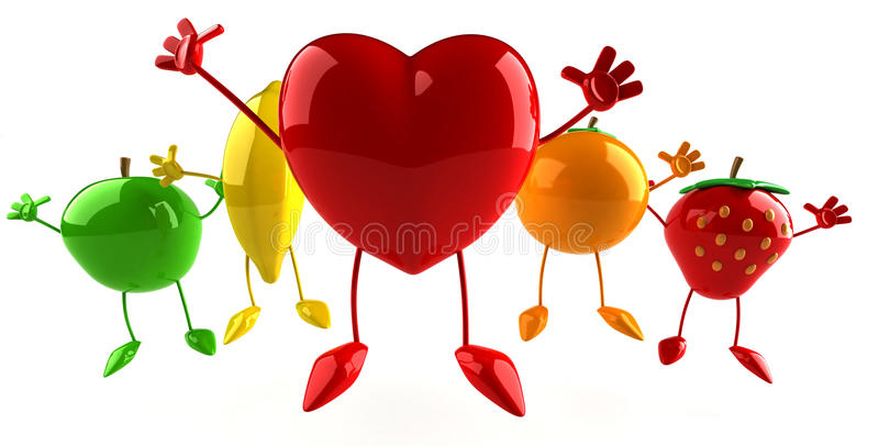 Download Fruits and heart stock illustration. Image of natural - 12818242