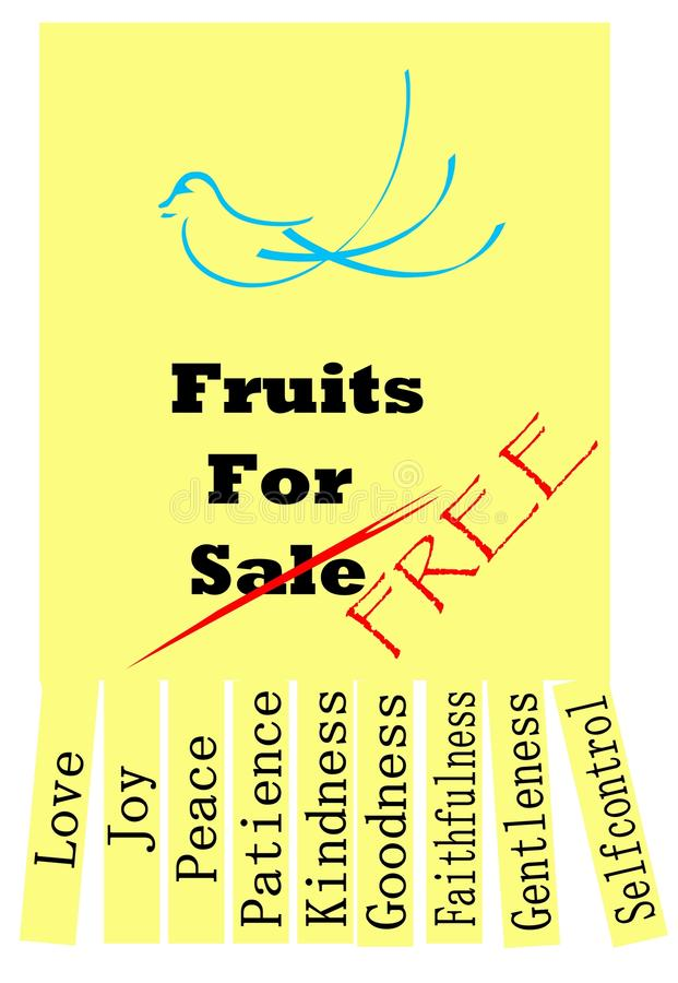 Download Fruits of the Holy Spirit stock illustration. Image of holy - 32549064