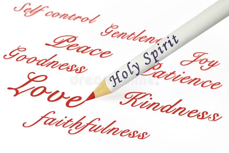 Fruits HS. Concepts of the fruits of the Spirit as from Galatians 5:22 stock photo