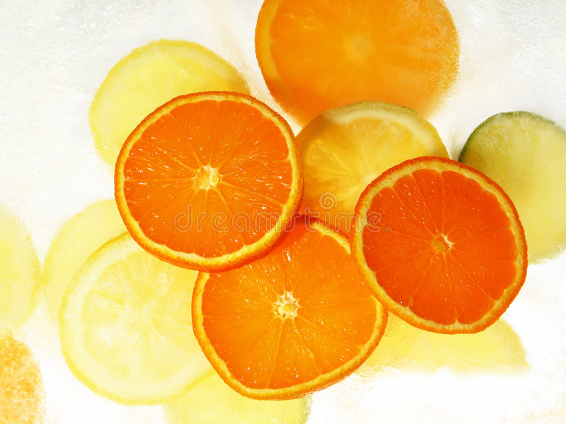 Download Fruits on ice stock image. Image of citric, acid, grapefruit - 135419
