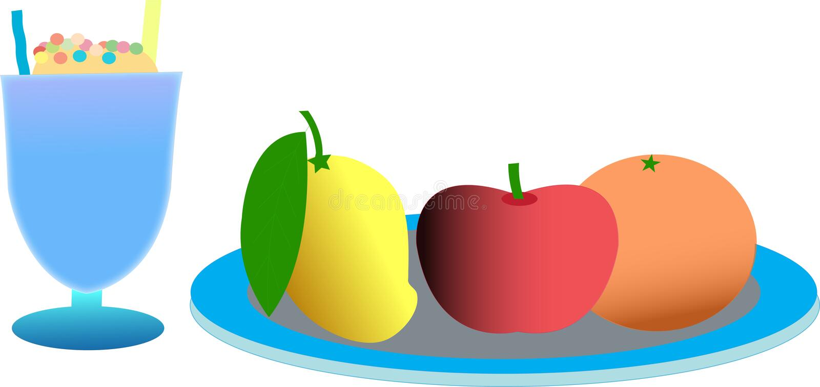 Download Fruits and icecream stock vector. Illustration of grey - 14767143