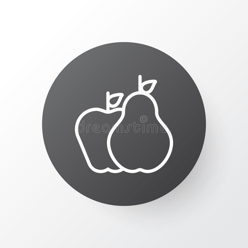 Fruits Icon Symbol. Premium Quality Pear With Apple Element In Trendy Style. royalty free illustration