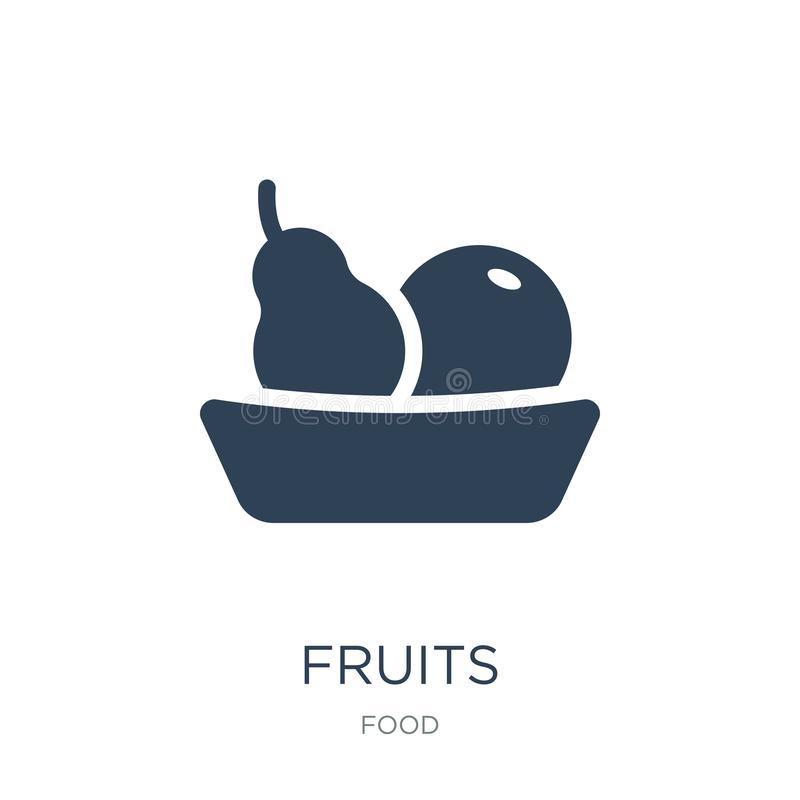 Fruits icon in trendy design style. fruits icon isolated on white background. fruits vector icon simple and modern flat symbol for. Web site, mobile, logo, app royalty free illustration