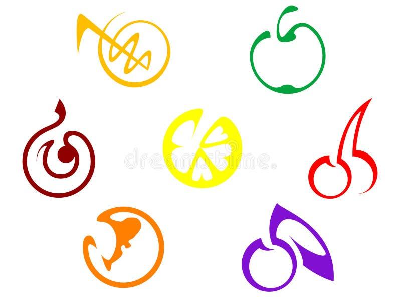 Fruits icons royalty free stock photo