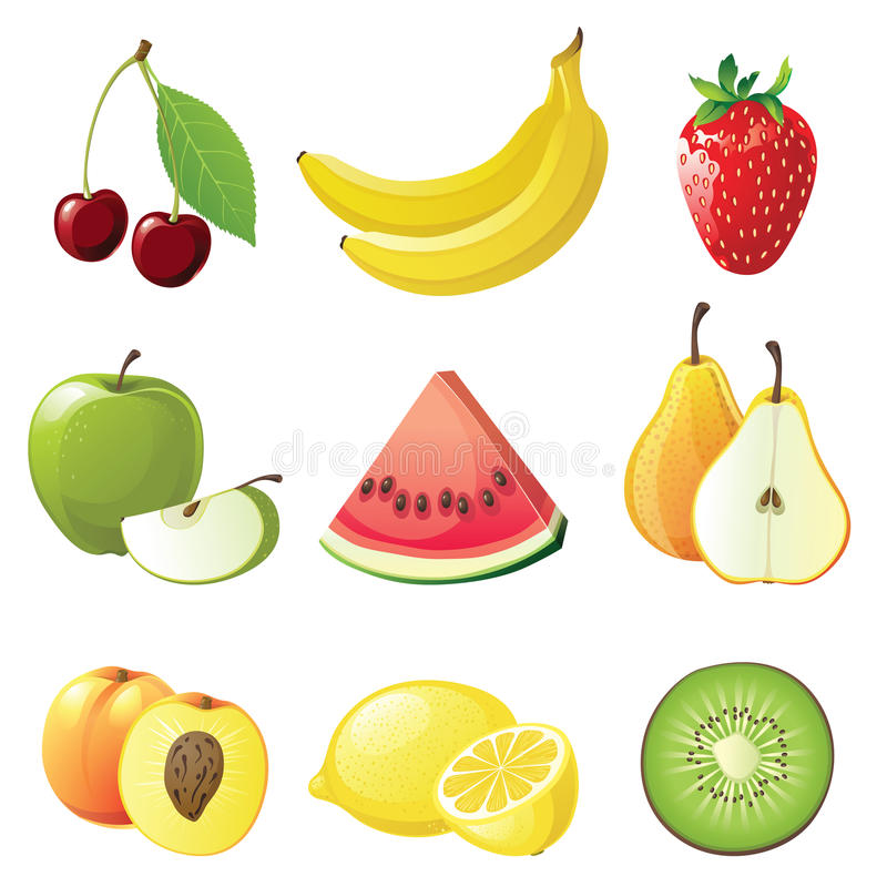 Free Fruits Icons Royalty Free Stock Image - 20036836