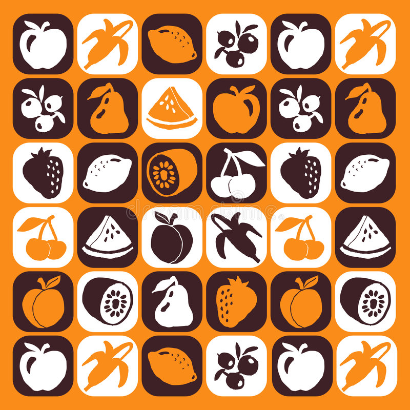 Download Fruits Icons Stock Image - Image: 3010591