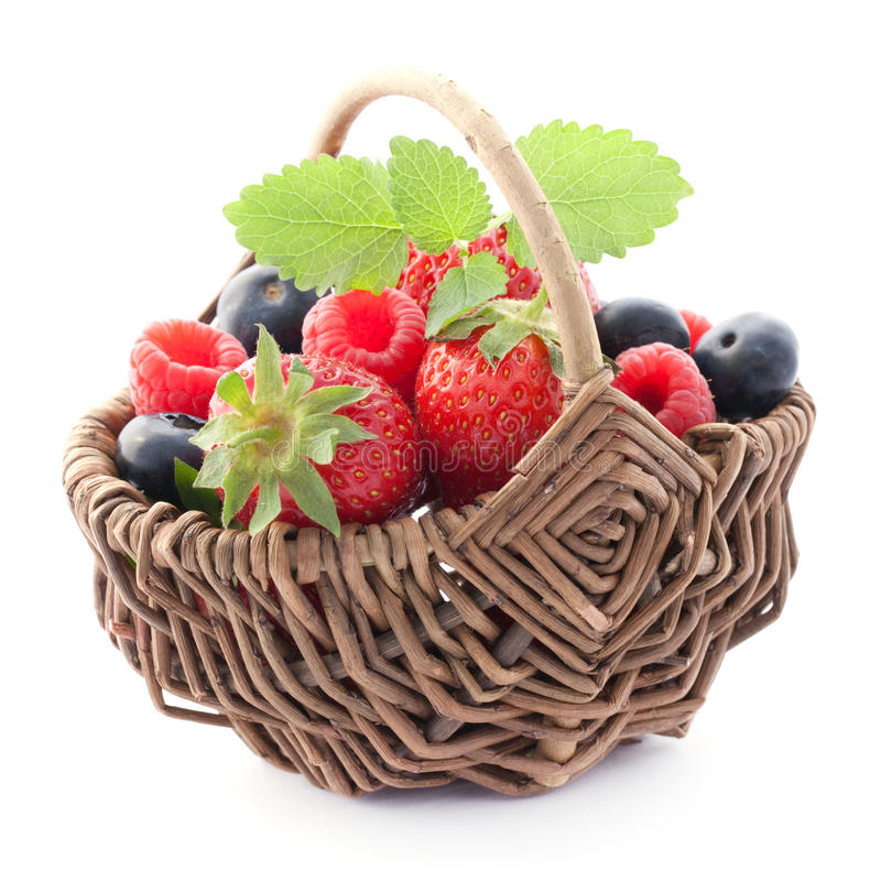 Free Fruits In A Basket Royalty Free Stock Image - 19554666