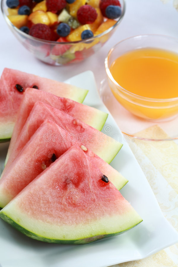 Fruits and juice royalty free stock photography