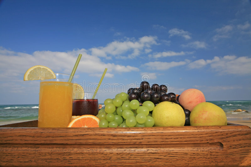 Juices against blue sky stock images
