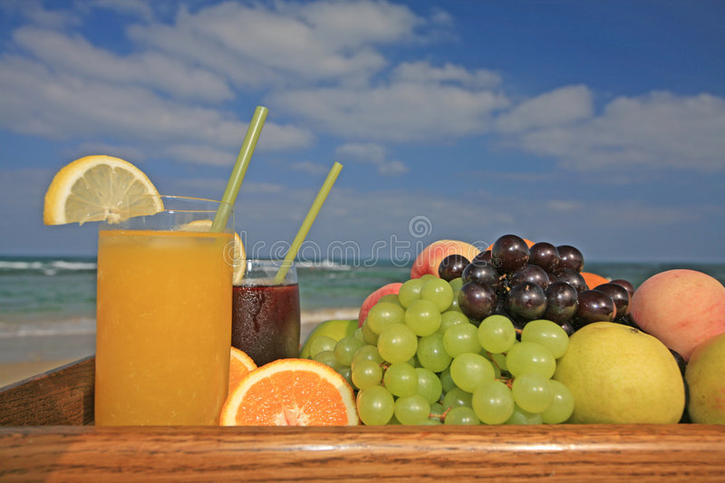 Fruits and juices royalty free stock image