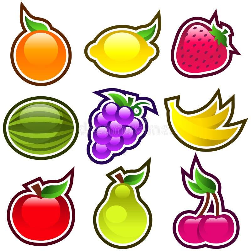 Fruits lustrés illustration libre de droits