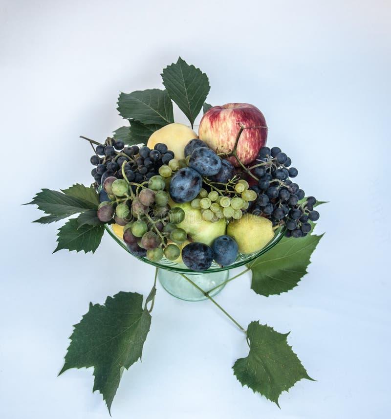 Fruits mélangés frais de plat photo libre de droits