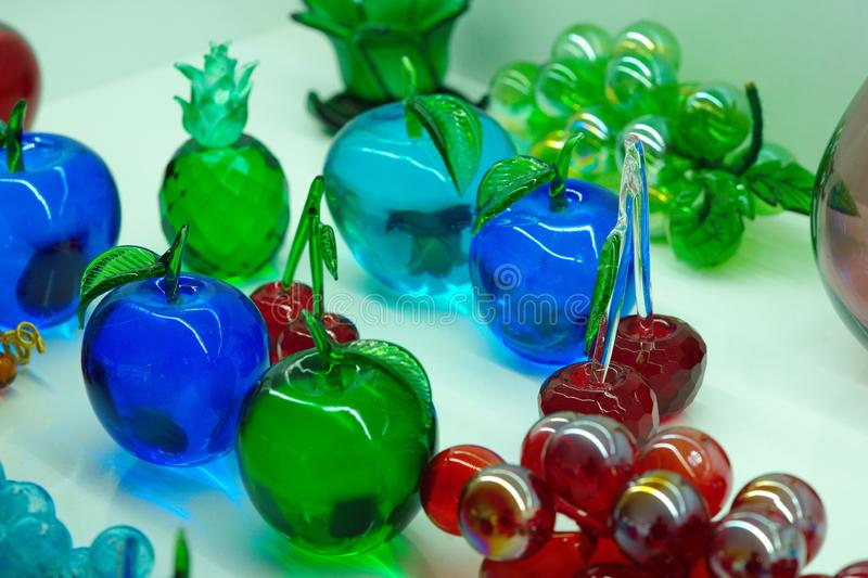 Fruits made of glass stock photo