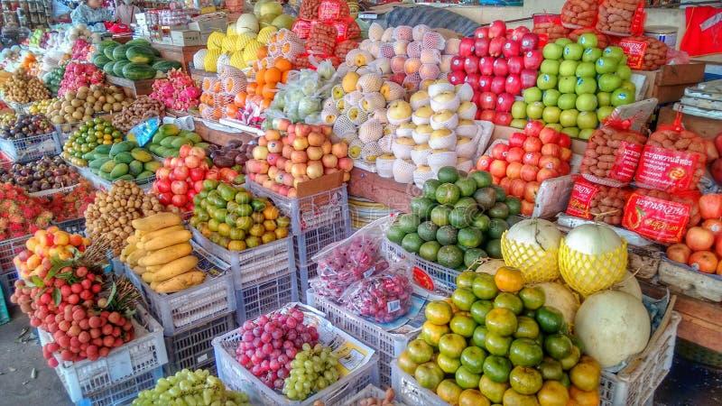 Fruits Market Pakse, Laos stock image