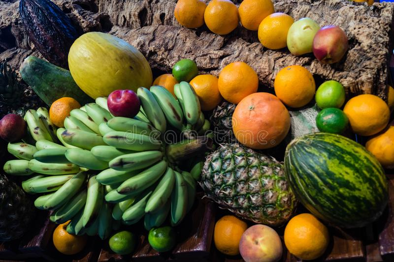 Fruits on a market royalty free stock photography