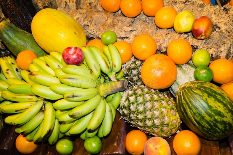 Fruits on a market stock photography