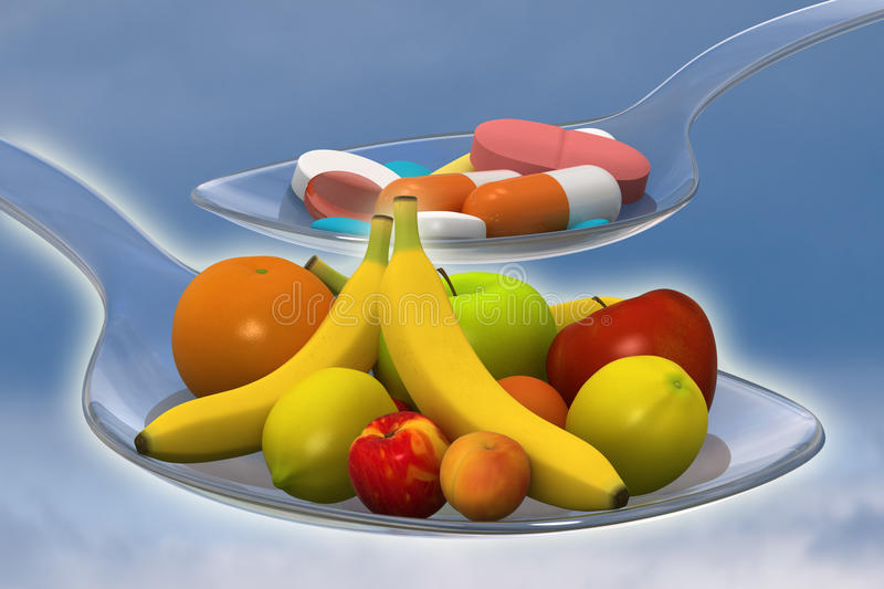 Fruits Or Medicine Royalty Free Stock Photography