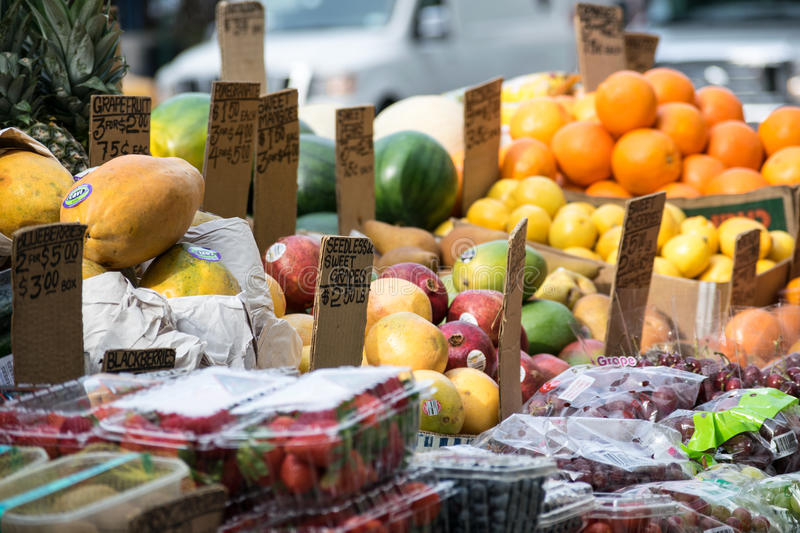 Fruits In New York City stock images