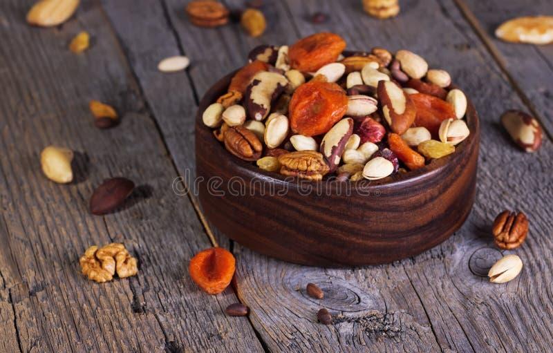 Fruits Nuts et secs photo stock