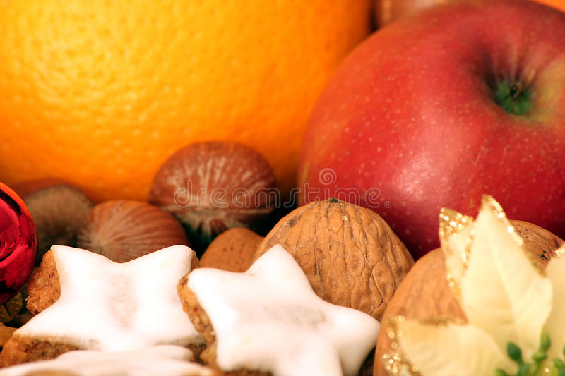 Fruits nuts 'n' stars stock photos
