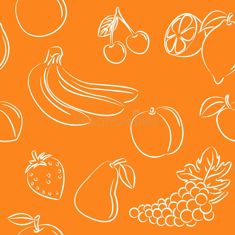 Download Fruits pattern stock vector. Illustration of pear, peach - 14087048